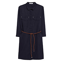 Buy Mango Linen-Blend Shirt Dress Online at johnlewis.com