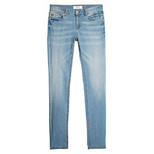 Buy Mango Alice Slim Fit Jeans, Pastel Blue Online at johnlewis.com
