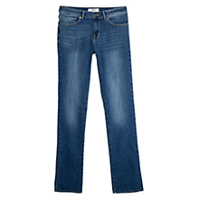 Buy Mango Straight Christy Jeans, Medium Blue Online at johnlewis.com