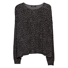 Buy Mango Printed Jumper, Medium Grey Online at johnlewis.com