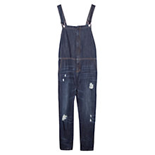 Buy Mango Denim Dungarees, Dark Navy Online at johnlewis.com