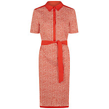 Buy Jaeger Linen Shirt Dress, Red/White Online at johnlewis.com