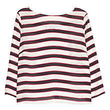 Buy Mango Striped Bow Blouse, Navy Online at johnlewis.com
