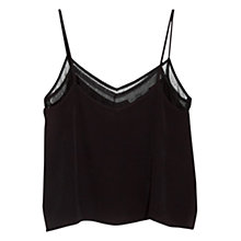Buy Mango Double Layer Vest Top, Black Online at johnlewis.com