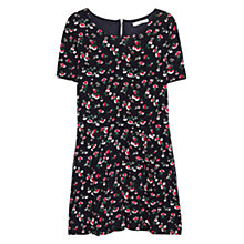 Buy Mango Floral Printed Dress, Dark Blue Online at johnlewis.com