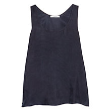 Buy Mango Flowy Top, Navy Online at johnlewis.com