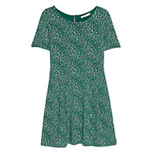 Buy Mango Printed Dress, Bright Green Online at johnlewis.com