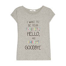 Buy Mango Message T-Shirt, Medium Grey Online at johnlewis.com