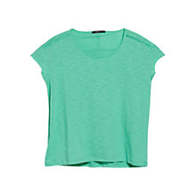 Buy Mango Slub Cotton T-Shirt Online at johnlewis.com