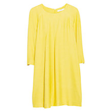 Buy Mango Decorative Pleat Dress, Yellow Online at johnlewis.com