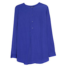 Buy Mango Flowy Long Shirt, Medium Blue Online at johnlewis.com