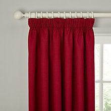 Buy John Lewis Barathea Blackout Lined Pencil Pleat Curtains Online at johnlewis.com