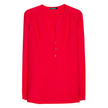 Buy Mango Textured Shirt, Bright Red Online at johnlewis.com