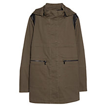 Buy Mango Detachable Gilet Parka, Medium Green Online at johnlewis.com