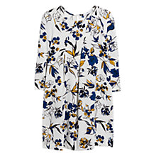 Buy Mango Seam Printed Dress, Natural White Online at johnlewis.com