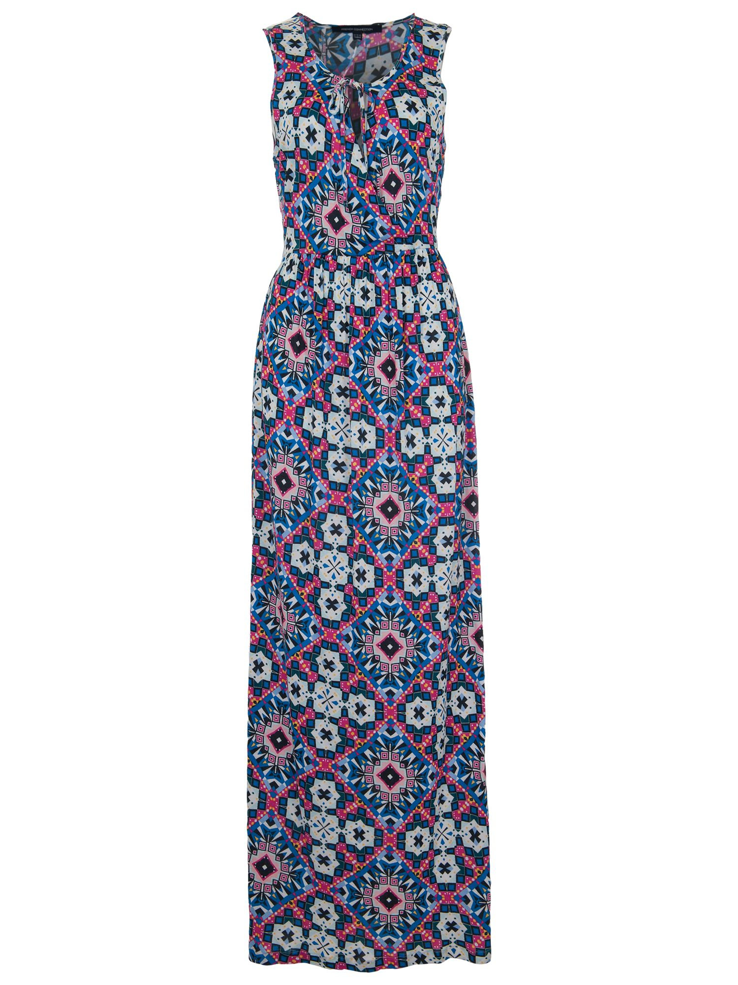 french connection mosaic asia maxi dress electric blue multi, french, connection, mosaic, asia, maxi, dress, electric, blue, multi, french connection, 16|8|6|12|14|10, women, womens dresses, 1933173