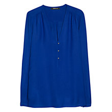 Buy Mango Textured Shirt, Medium Blue Online at johnlewis.com