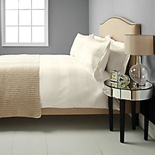 Buy John Lewis Regent Stripe Bedding, Cream Online at johnlewis.com