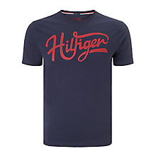 Buy Tommy Hilfiger Norton Crew Neck T-Shirt, Blue Online at johnlewis.com