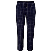 Buy Tommy Hilfiger Windowpane Check Cotton Pyjama Bottoms, Navy Online at johnlewis.com