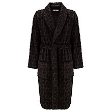 Buy Tommy Hilfiger Logo Pattern Terry Cotton Robe, Black Online at johnlewis.com