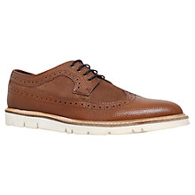 Buy KG by Kurt Geiger Gotham Leather Brogue Shoes, Brown Online at johnlewis.com