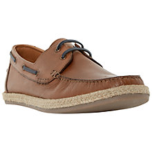 Buy Dune Bunting Leather Boat Shoes Online at johnlewis.com