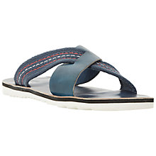 Buy Dune Inky Mixed Material Crossover Slider Sandals, Navy Online at johnlewis.com