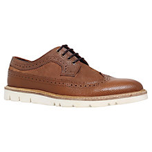 Buy KG by Kurt Geiger Gotham Brogues, Tan Online at johnlewis.com