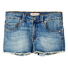 Buy Mango Kids Frayed Denim Shorts Online at johnlewis.com