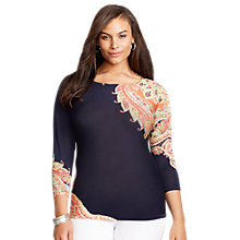 Buy Lauren Ralph Lauren Jersey Print Top, Multi Online at johnlewis.com