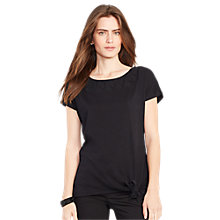 Buy Lauren Ralph Lauren Jersey Top, Black Online at johnlewis.com