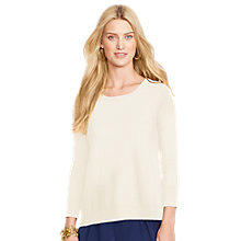 Buy Lauren Ralph Lauren 3/4 Sleeve Top, Modern Cream Online at johnlewis.com