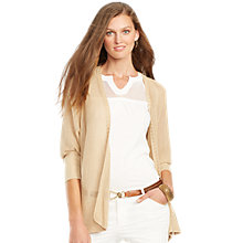 Buy Lauren Ralph Lauren Open-Knit Cardigan, Safari Tan Online at johnlewis.com