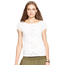 Buy Lauren Ralph Lauren Jersey Top, White Online at johnlewis.com