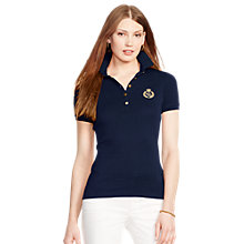 Buy Lauren Ralph Lauren Metallic-Crest Polo Shirt Online at johnlewis.com