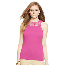 Buy Lauren Ralph Lauren Sleeveless Top, Pink Hibiscus Online at johnlewis.com