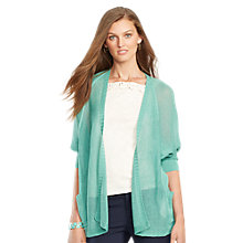 Buy Lauren Ralph Lauren Open-Knit Cardigan, Rugged Sage Online at johnlewis.com