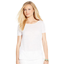 Buy Lauren Ralph Lauren Linen-Cotton Panel Top, White Online at johnlewis.com