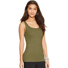 Buy Lauren Ralph Lauren Scoopneck Cotton Vest Online at johnlewis.com