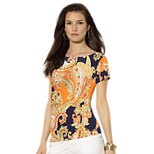Buy Lauren Ralph Lauren Jersey Top, Multi Online at johnlewis.com
