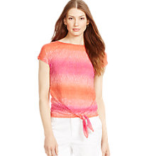 Buy Lauren Ralph Lauren Tie-Front Cotton Tee Online at johnlewis.com