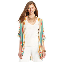 Buy Lauren Ralph Lauren Striped Linen-Blend Cardigan, Multi Online at johnlewis.com