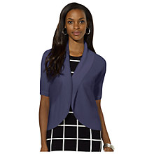 Buy Lauren Ralph Lauren Cotton Shawl-Collar Shrug, Indigo Sky Online at johnlewis.com
