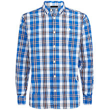 Buy Jaeger Plaid Slim Fit Shirt, Lake Blue Online at johnlewis.com