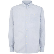 Buy Jaeger End On End Stripe Slim Shirt, Mid Blue Online at johnlewis.com