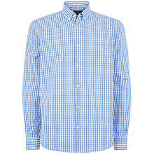 Buy Jaeger Gingham Check Regular Fit Shirt Online at johnlewis.com