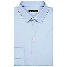 Buy Jaeger Micro Gingham Modern Shirt, Pale Blue Online at johnlewis.com