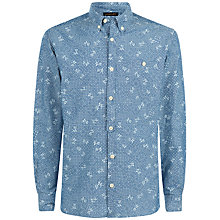 Buy Jaeger Chambray Print Slim Shirt, Chambray Online at johnlewis.com