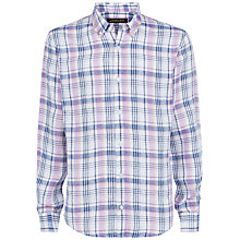Buy Jaeger Linen Check Regular Shirt Online at johnlewis.com